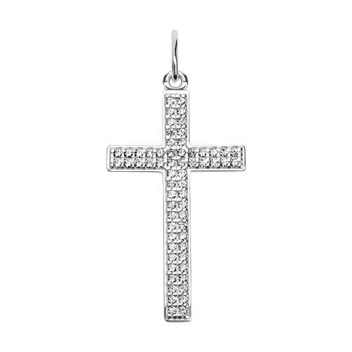 Cruce din argint cu fianite