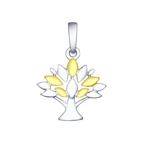 Pandantiv in forma de copac din argint aurit