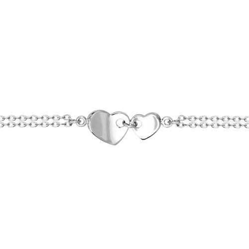 Bratara 'Love' din argint cu fianite 'Mereu alaturi'